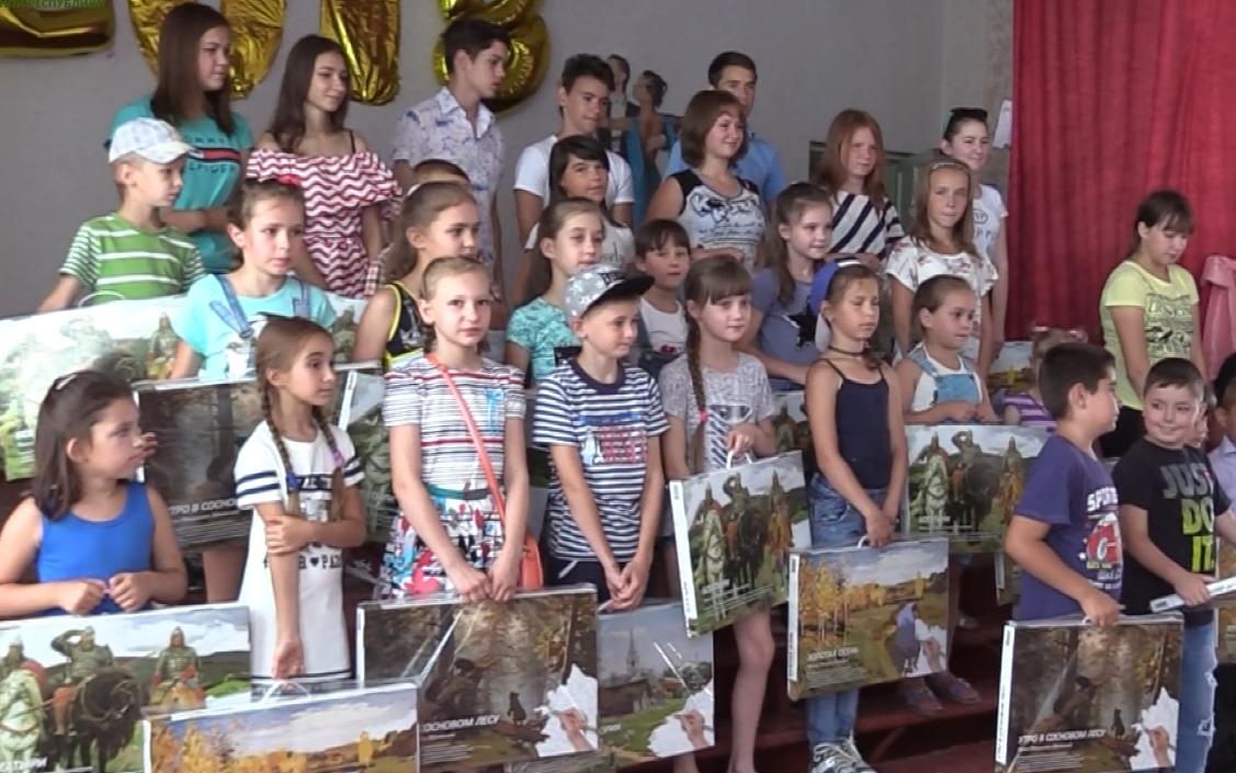 В пришкольный лагерь посёлка Фрунзе доставлена гуманитарная помощь от Народной милиции ЛНР