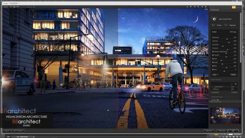 Photoshop architecture rendering tutorial night seane 2