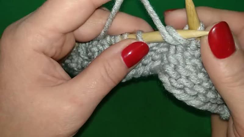 1ч Как связать шарф капюшон с косой на подростка спицами Scarf Hooded Lesson 1