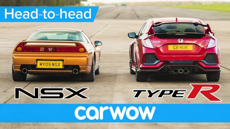 Honda Civic Type R vs Old NSX – DRAG RACE, ROLLING RACE BRAKE TEST | Head-to-Head