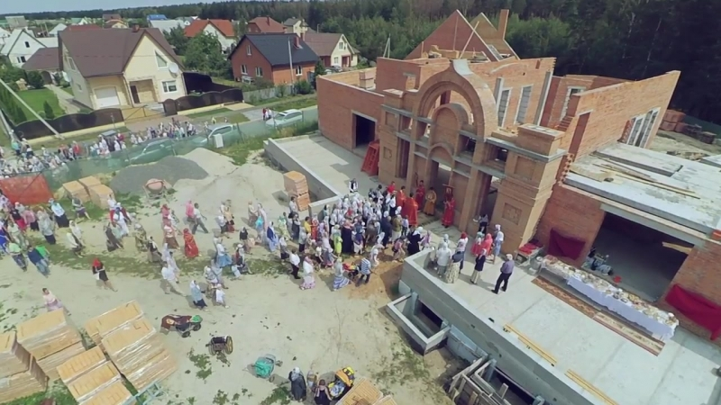 Строительство храма Святого мученика цесаревича Алексия в Пинске.