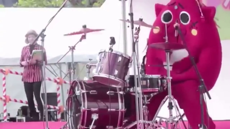 Costumed Person Destroys The Drums At Children's Music Concert - Nyango Star