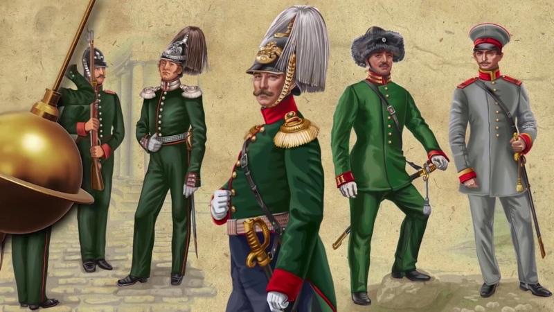 Слайд-шоу из моих иллюстраций, нарисованных для энциклопедии История мундира российской полиции.