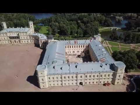 Gatchina Palace drone footage - Гатчинский дворец с высоты