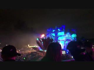 Пожар на фестивале EDC Orlando!