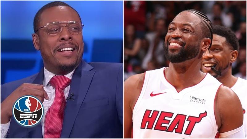 Paul Pierce reacts to Heat fans' 'Paul Pierce sucks' chants after Dwyane Wade take | NBA Countdown