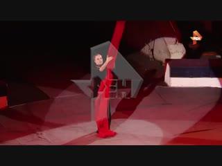 Падение воздушной гимнастки в новокузнецком циркe