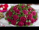 Салат, который затмит любое блюдо на столе! Приготовьте Букет роз, пусть у всех челюсть отвиснет