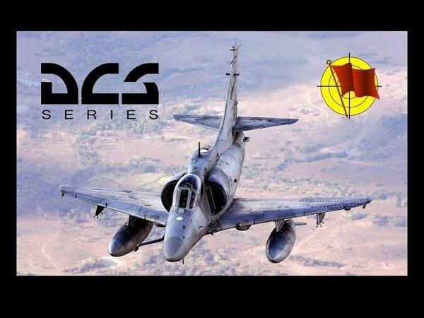 DCS World: A-4E Skyhawk - работа воздух-воздух, пушки Colt MK12 и ракеты AIM-9 Sidewinder (перевод)
