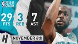 Kemba Walker Full Highlights Hornets vs Hawks 2018.11.06 - 29 Pts, 7 Ast, 3 Rebounds!