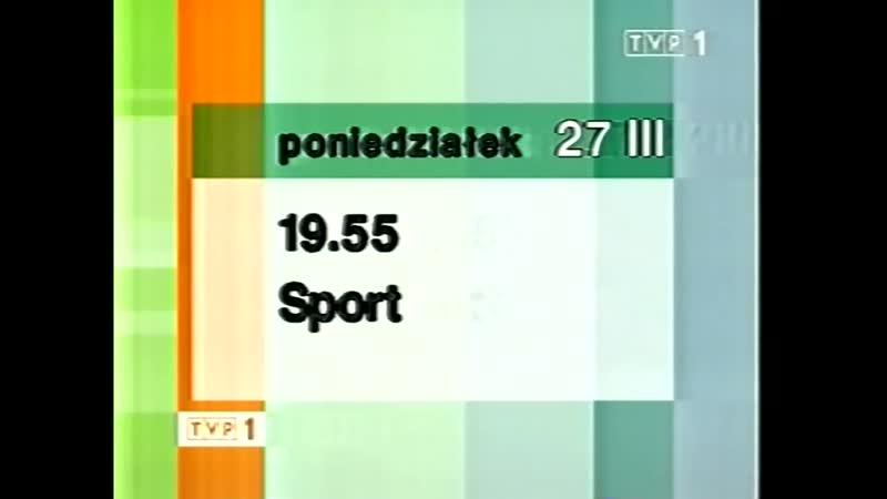 Программа передач и конец эфира (TVP1 [Польша], 26.03.2006)