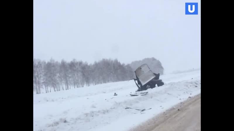 Страшное ДТП в Башкирии машину разорвало на части