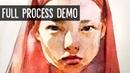Portrait study walkthrough from start to finish 🎨