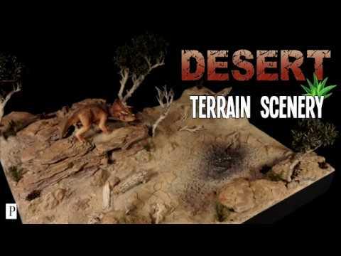 How To Make Desert Terrain Scenery Triceratops Diorama