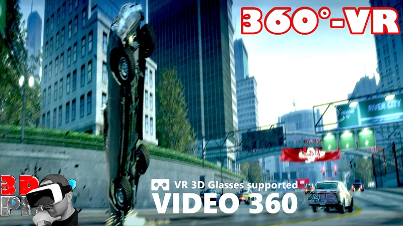 360° VR Video - Burnout Paradise - TAKEDOWNS | Google Cardboard VR Box Oculus Rift Gear