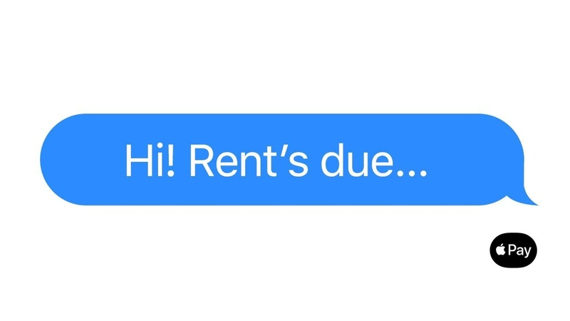 Apple Pay Just text them the money Rent