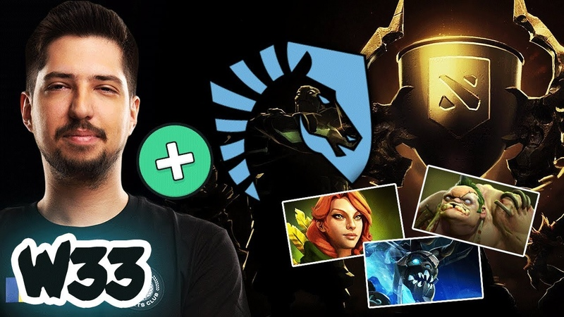 W33 FIRST TIME Battle Cup with Team Liquid - Will he be the new Core Player for Team Liquid Dota 2
