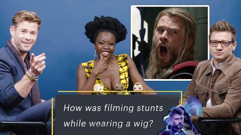 "Chris Hemsworth, Jeremy Renner, Danai Gurira Answer ""Avengers"" Fan Questions | Vanity Fair"
