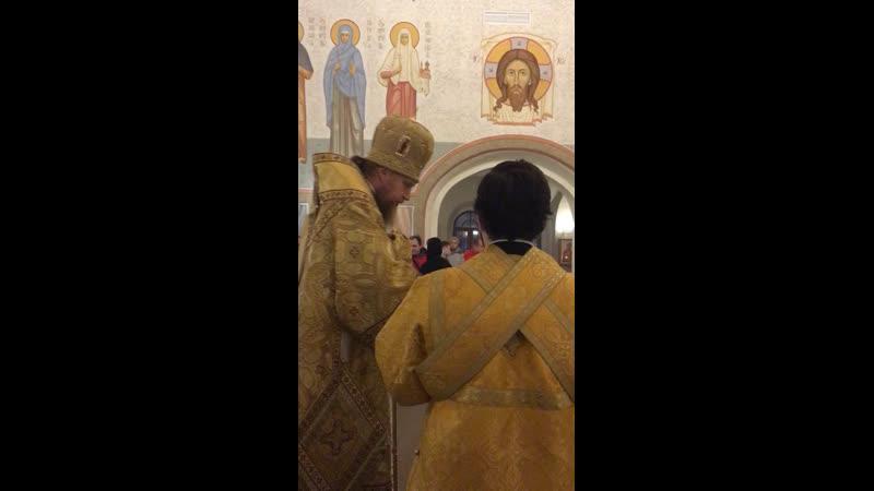 9 03 19г Владыка Иоанн епископ Домодедовский стал настоятелем нашего храма
