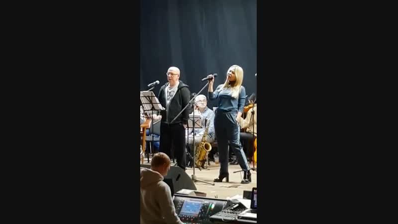 Пелагея и Андрей Сапунов Репетиция к Юбилейному концерту Леонида Агутина