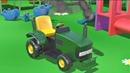 Sur l'aire de jeux Assemblage d'un Tracteur Apprendre à compter jusqu'à 6