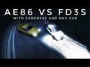 Initial D Legend 1: Kansei Dorifto Scene with Eurobeat (English Sub)