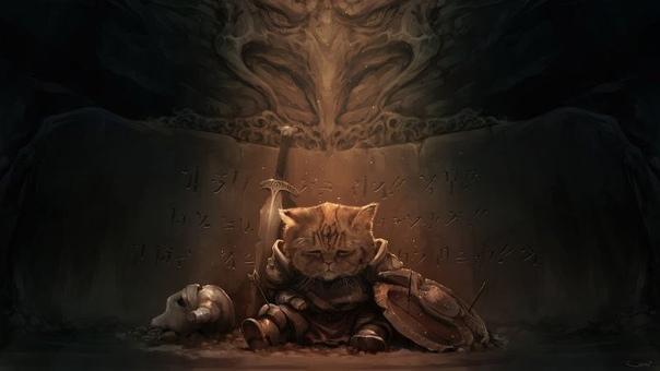Что по ночам делает кот Два часа ночи. На кухне загрохотала посуда. «Кот» - подумал проснувшийся Игорь, перевернулся на живот и снова захрапел. «Блин - подумал лежащий рядом кот, - портал на