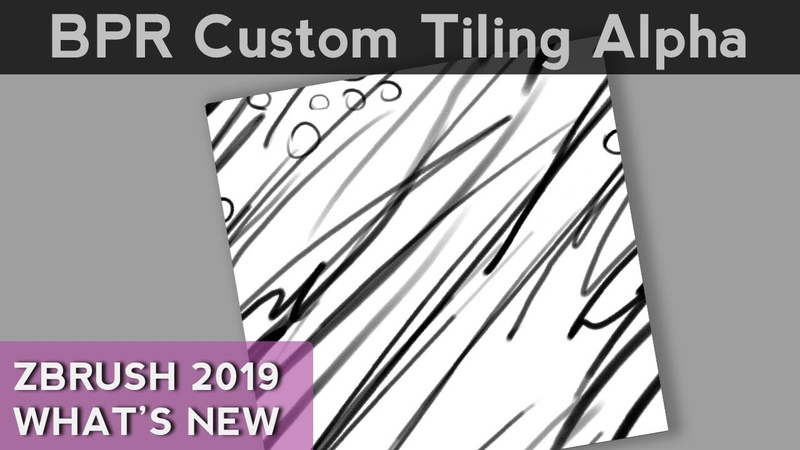 022 ZBrush Making Your Own Tiling Alpha