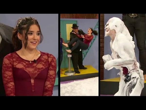 Viviana Serna is unceremoniously thrown into a huge vat of cream (includes Karla Luna)