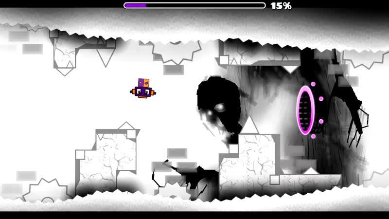 Geometry Dash - Underworld 100% GAMEPLAY Online (HfcRed) MEDIUM DEMON