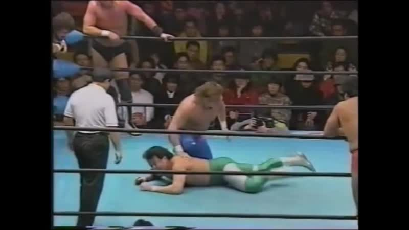 1995.01.29 - Steve Williams/Johnny Ace/Johnny Smith vs. Giant Baba/Mitsuharu Misawa/Kenta Kobashi