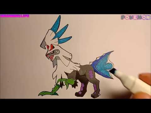 Hướng dẫn vẽ Silvally Pokémon Huyền thoại loại thường thế hệ 7