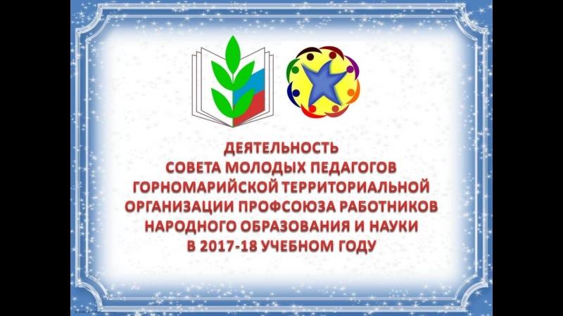 Совет молодых педагогов Горномарийской территориальной организации Профсоюза образования в 2017-2018 учебном году
