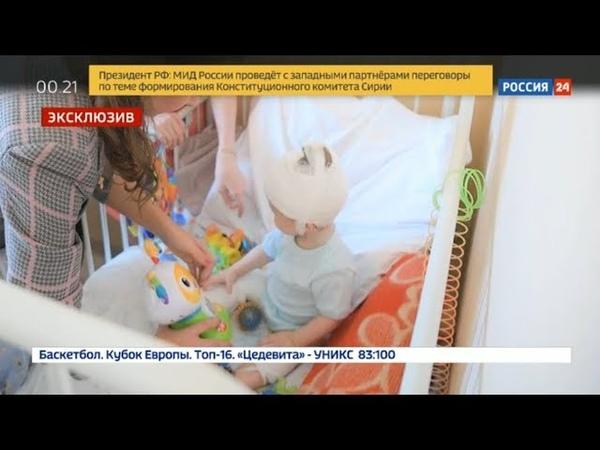 Ваня Фокин тот самый 11-месячный малыш, спасенный из-под завалов, идёт на поправку .