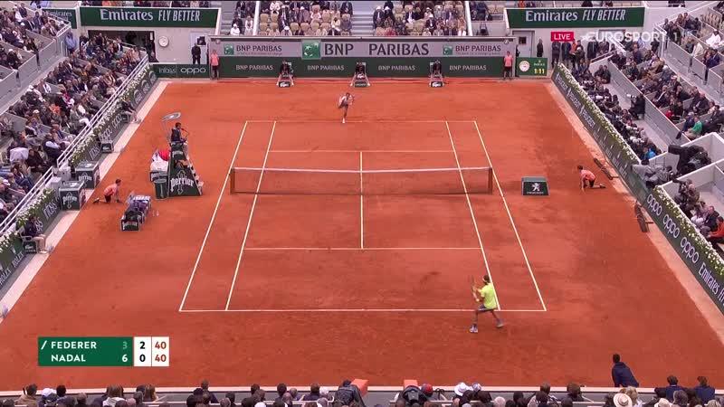 Roland Garros 2019 _Надаль_Федерер