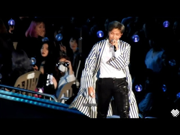 [Fancam]180825 BTS Trivia承:Love【RM Focus】 LOVE YOURSELF in SEOUL