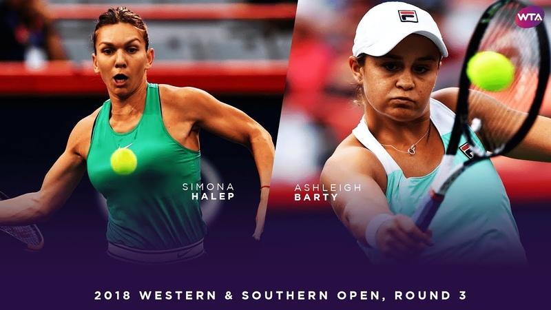 Simona Halep vs. Ashleigh Barty | Western Southern Open Round 3 | WTA Highlights