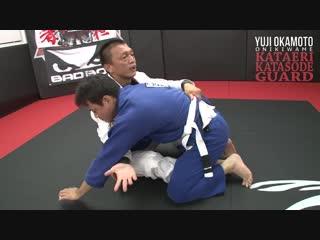 Yuji Okamoto - armdrag sweep from butterfly guard