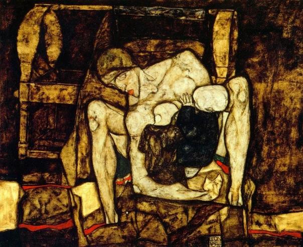 « одного шедевра». «Слепая мать», Эгон Шиле 1914г. Холст, масло. Размер: 99×120 см. Музей Леопольда, Вена«Слепая мать» - одно из самых странных произведений Шиле, отражающее его собственные