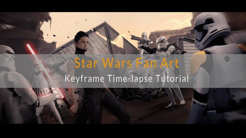 Star Wars Fan Art Concept art Keyframe Time lapse
