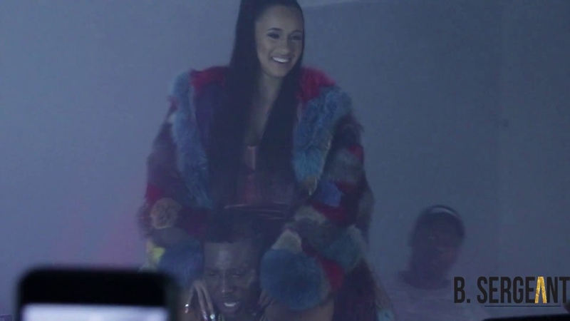 50 cent, Cardi B, Uncle Murda more come out to Phresher's Wait a Minute video shoot