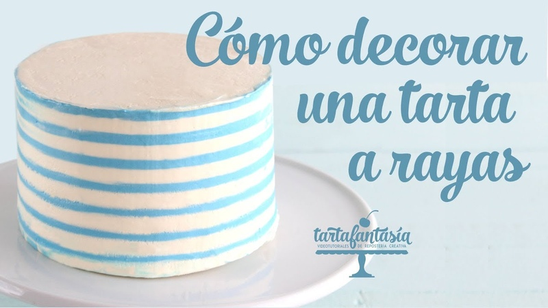 Cómo decorar una tarta con lineas