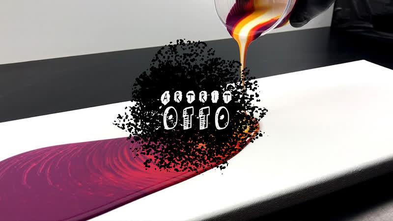 Акриловое литье в технике Swirl с пятью цветами