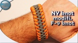 How to make Paracord Bracelet NY knot modification of F-9 knot by paracord by sfs Tutorial