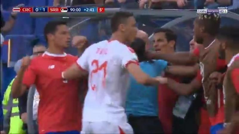 Matic vs Costa Rica bench