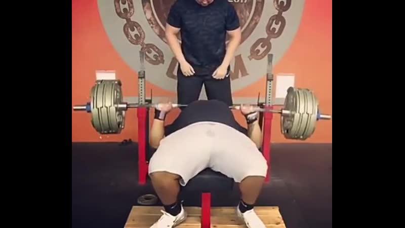 Джулиус Мэддокс Жим 261 кг на 8 повторений