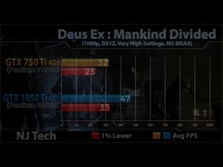 [NJ Tech] GTX 750 Ti vs GTX 1050 Ti   New Games Benchmarks