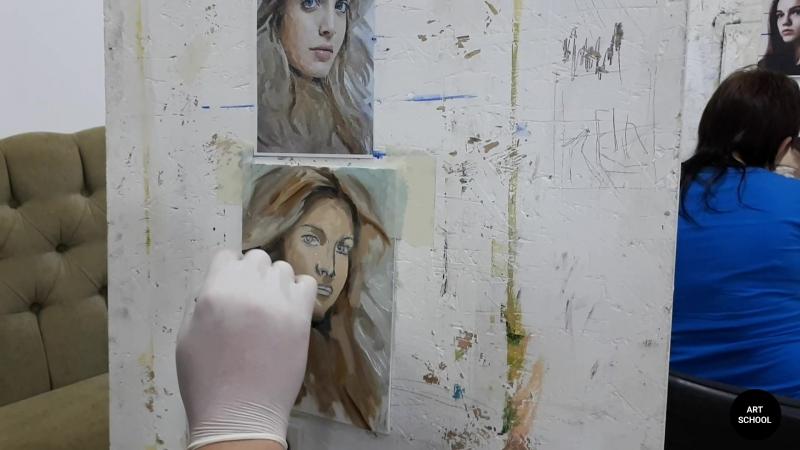 Живопись в Твери! Работа над портретом масляными красками