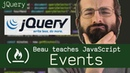JQuery events Beau teaches JavaScript