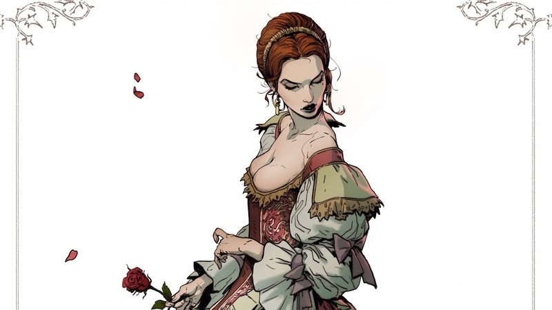 Drawing a Character - Time Lapse 5 Blood Countess Elizabeth Bathory